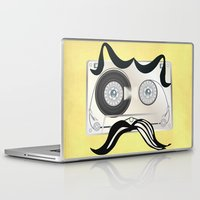 tape Laptop & iPad Skins featuring Tape Masculine by Texnotropio