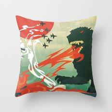 Tokyo or Bust Throw Pillow