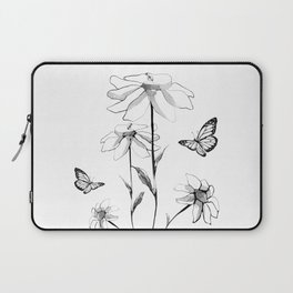 Flowers and butterflies 2 Laptop Sleeve