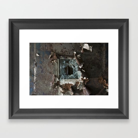 Asylum Door Framed Art Print