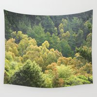 forrest Wall Tapestries featuring Forrest Green by Bizzack Photography