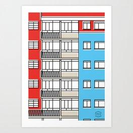 Edificio Canaima -Detail- Art Print