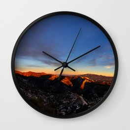 Sunset on the Catalinas Wall Clock