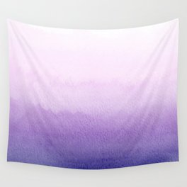 Purple Watercolor Design Wall Tapestry