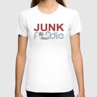 junk food T-shirts featuring I HEART Junk Food by HemantS