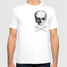 Gear Heads and Monkey Wrenches White MEDIUM Mens Fitted Tee
