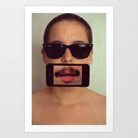 mustache~ Art Print