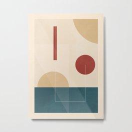 Geometric Shapes 89 Metal Print