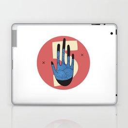 High Five in Blue Laptop & iPad Skin