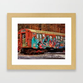 8th Ave Concourse Trolley Framed Art Print