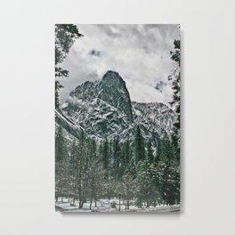 Yosemite a Snowy El Capitan Metal Print