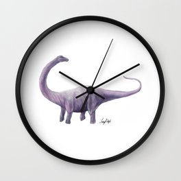 Purple Diplodocus Wall Clock