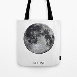 La Lune Print, Moon Poster, La Luna Wall Art, Full Moon Print Tote Bag