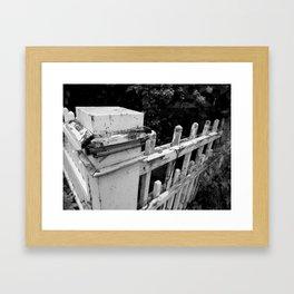 OLD FENCES Framed Art Print