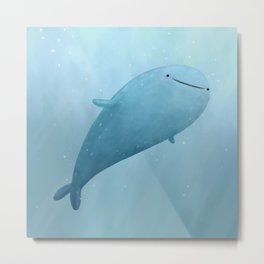 Cute Whale Shark Metal Print