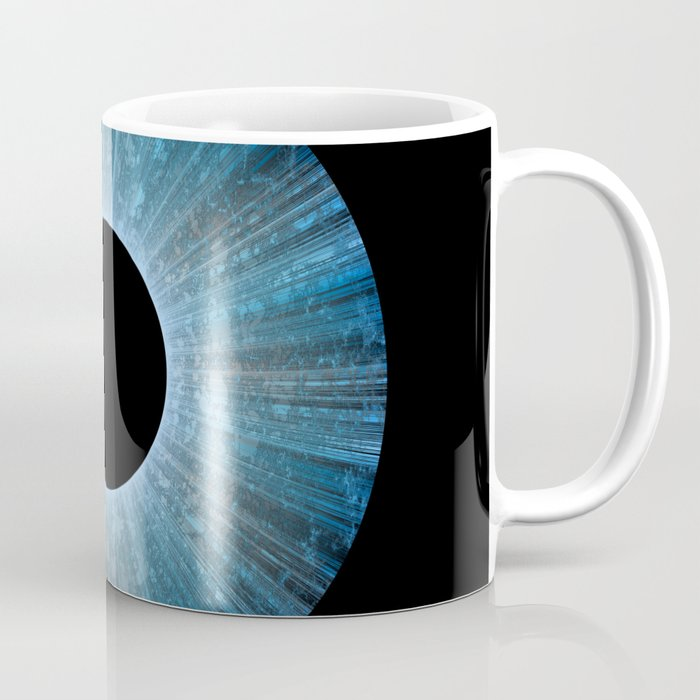 Blue Iris Abstract Universe Art Coffee Mug