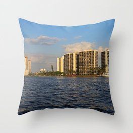 Shoreline in Fort Myers III Throw Pillow