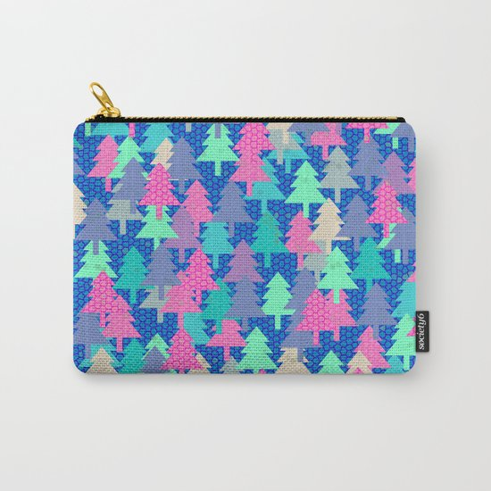 Colorful fir pattern II Carry-All Pouch