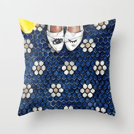 Art Beneath Our Feet Project - Grand Rapids Throw Pillow