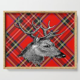 Christmas Reindeer Serving Tray
