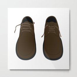 Pair Of Shoes Metal Print