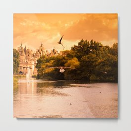 st. james park in London at sunset Metal Print