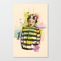 chaplin Canvas Prints featuring Chaplin by Dnl Villanueva