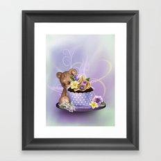 Cupcake Bear Framed Art Print