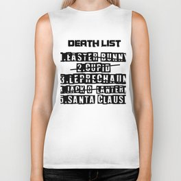 Death List Santa Armor Easter Bunny Humor Gift Biker Tank