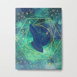 Celestial Rabbit 2 Metal Print