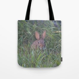 Rabbit in the Grass Tote Bag