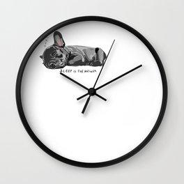 French Sleep Wall Clock