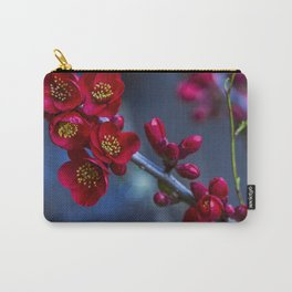 Red Flowering Quince Carry-All Pouch