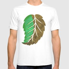 Drying Leaf White MEDIUM Mens Fitted Tee