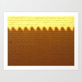 Wall Bumps Art Print