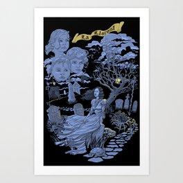 Hispanic Legend La Llorona (purple) Art Print