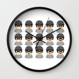 Robber Mood Wall Clock
