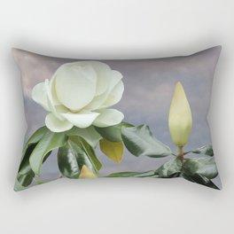 White Magnolia Tree Rectangular Pillow