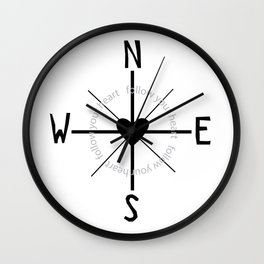Heart Compass Wall Clock