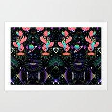 MOON / MOON / MOON Art Print