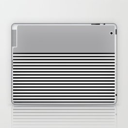 STRIPE COLORBLOCK {GRAY} Laptop & iPad Skin