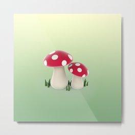 red mushrooms Metal Print