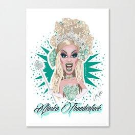 ALASKA THUNDERFUCK - Queen of Snakes Realness Canvas Print