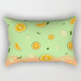 Summer Love _ Lime Orange Rectangular Pillow