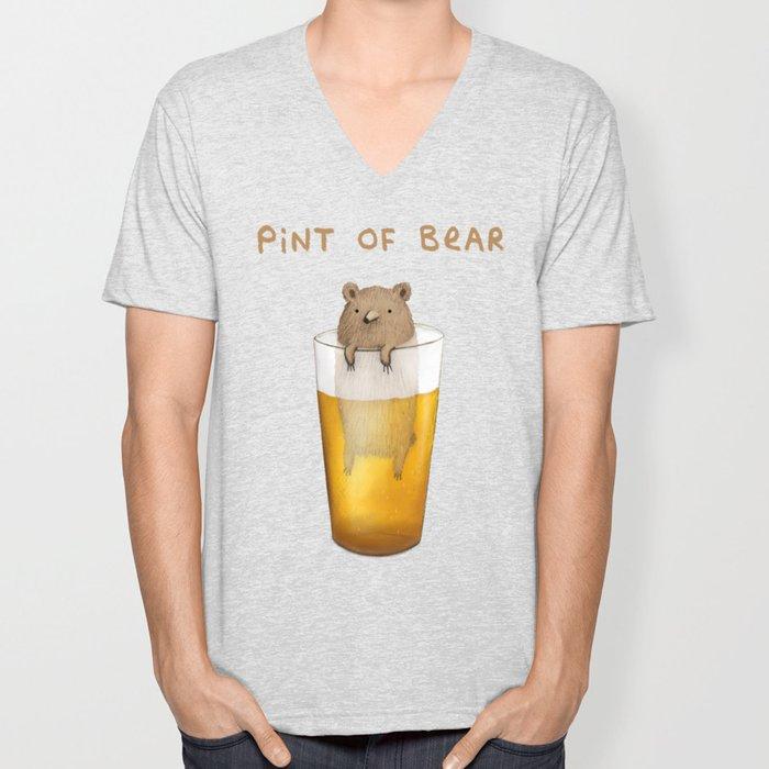 Pint of Bear Unisex V-Neck