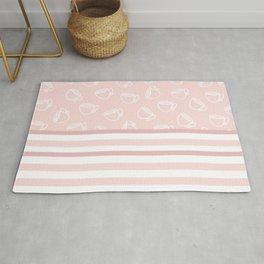 The Tea: Pink & Stripe Rug