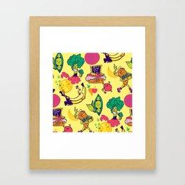 Busy Veggies Framed Art Print