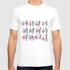 Sock Hop White MEDIUM Mens Fitted Tee