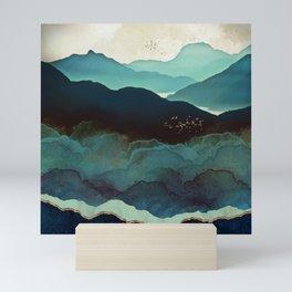 Indigo Mountains Mini Art Print