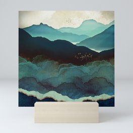 Indigo Mountains Mini Art Print